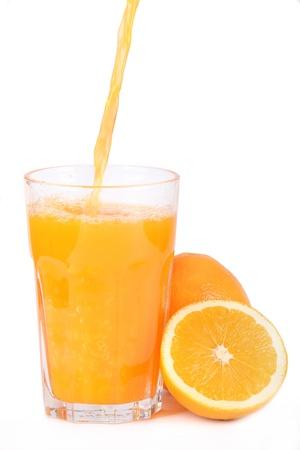 Zumo de naranja reciente Foto de archivo