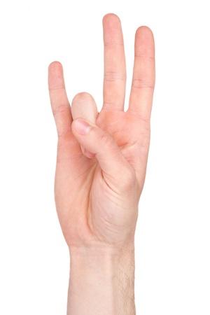 El número siete en la lengua de signos