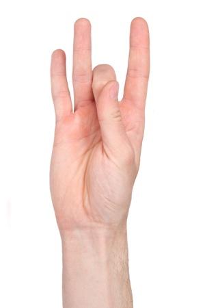 El número ocho en lengua de signos