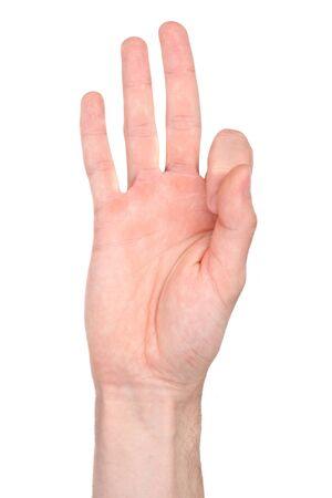 Número nueve en lengua de signos
