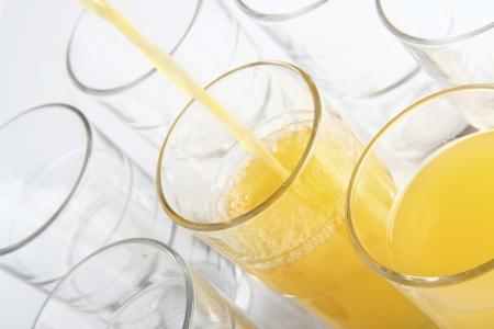Vaso de jugo de fruta Foto de archivo