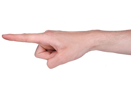 handed: Finger pointing