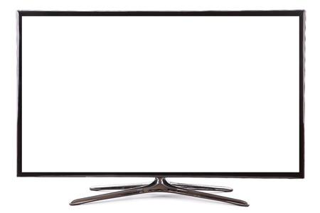 Smart TV-breedbeeldscherm met led tv monitor op wit wordt geïsoleerd Stockfoto - 34978472
