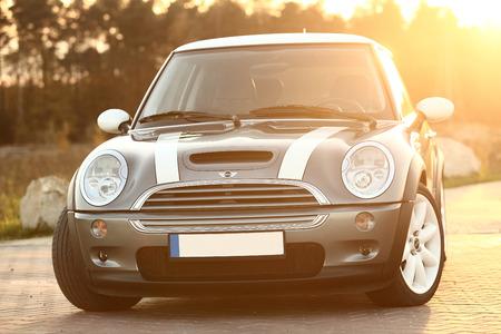 cooper: Poland, November 05 2014: Mini Cooper S on the parking Editorial