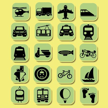 shinkansen: transportation icons Illustration