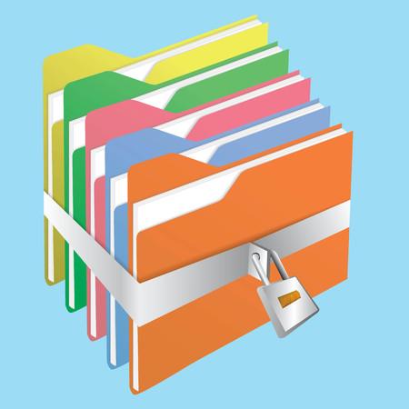 Lock folder Vector