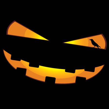 dreadful: pumpkin face and crow
