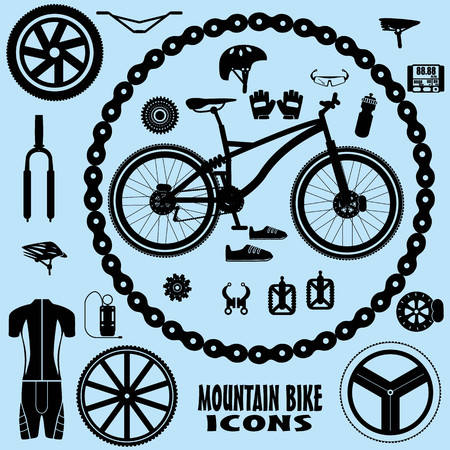 bicycle pump: mountain bike icons