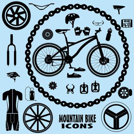 Mountainbike-Symbolen Standard-Bild - 31393902