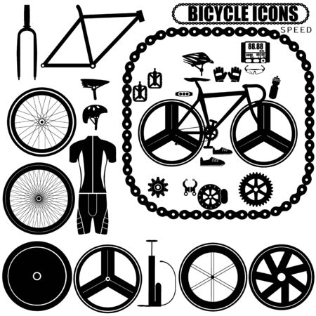biking glove: Speed bike icons