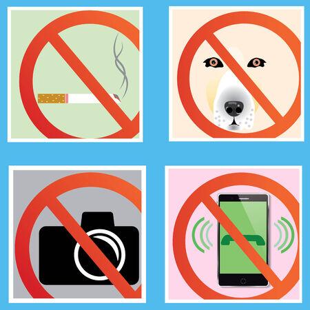 Do not signs Illustration