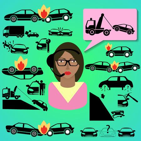 seguros autos: un callcenter ni�a y seguro de coche de l�nea caliente