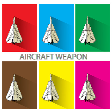 modern fighter: aircraft weapon  in color squarer