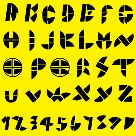 Black letters were designed to look. The buzz on yellow background Vector