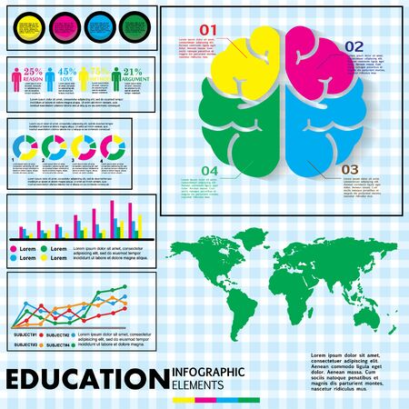 color education info graphic Vector