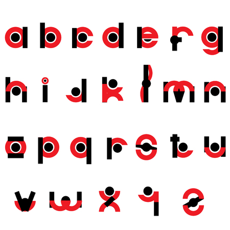 Black and red letters were designed to use. Vector