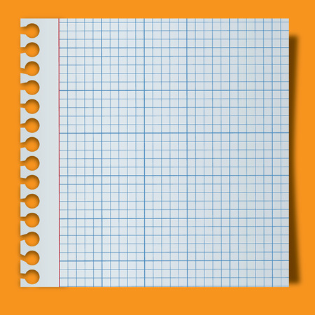 White lined blank torn notepaper page Illustration