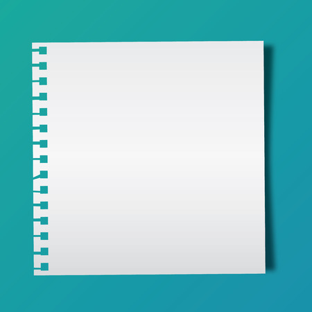 blank note: Blank note paper on green background