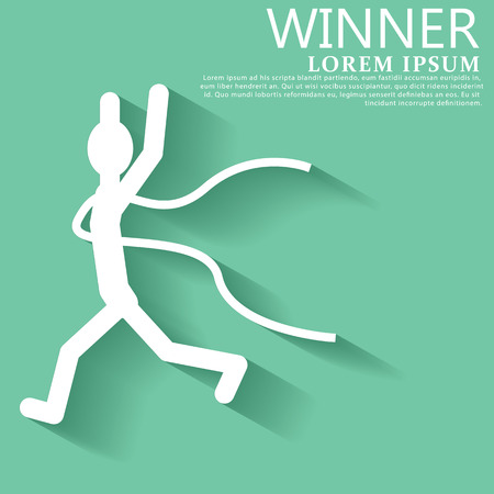 show of hands: Runners in the race are silhouette. show hands over the head with joy.