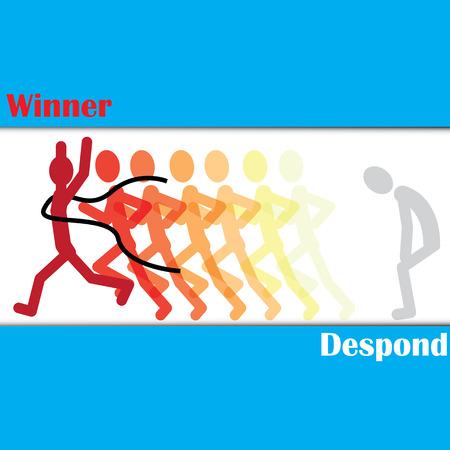 despondency: Runner is despond tobe winner