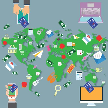 Trading on  Application. The connection to the foreign and trade easier. Illustration