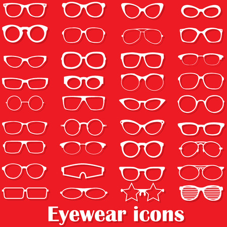 eyewear: Glasses icon in the form of vectors.
