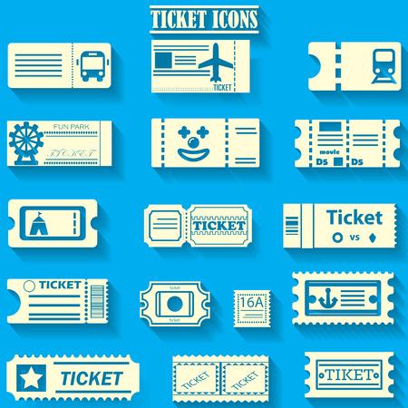 Icônes jaunes de billets de couleur sur fond de couleur bleu Vecteurs