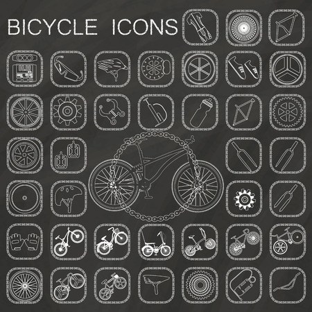 bicycle icons  on chalkboard background