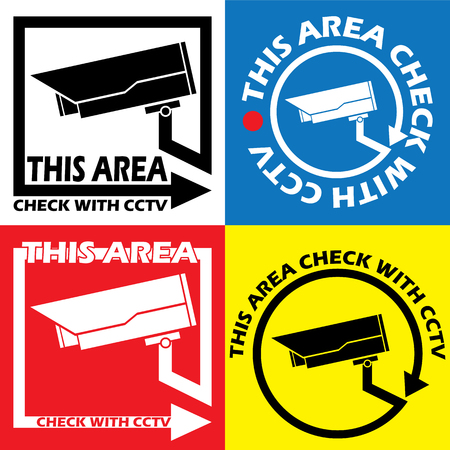 monitored area: Symbol The monitoring of this area. With CCTV. In color vector format.