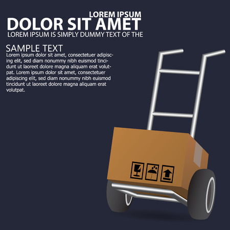 moving: Dolly, wheelbarrow for transportation of cargo, web icon. vector design Illustration