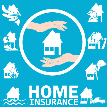 subsidence: Home insurance in vector style