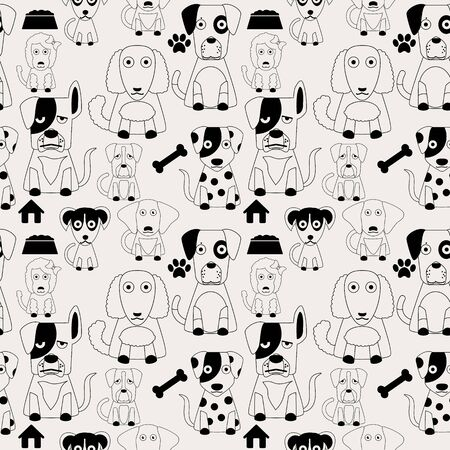 herder: Dog pattern seamless in vector style.