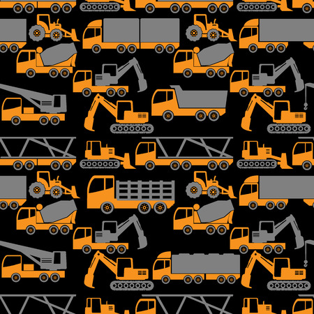 heavy construction: two tone shape heavy transportation and construction vehicle in vector style. Illustration