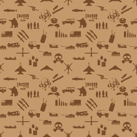 allied: military icons seamless wallpaper vector style