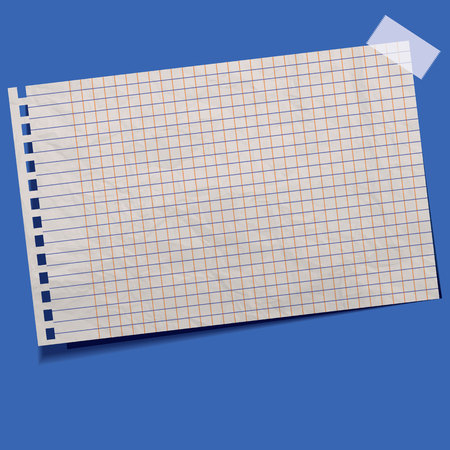 serrated: blank torn notepaper page for your text by vector