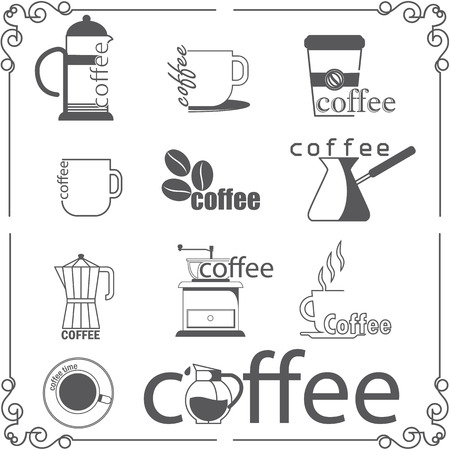 coffee berry: Coffee shop style Illustration