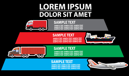 add text: Color transportation and color blank stripe for add text of business information. Vector symbol