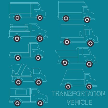 haulage: White tuck line art set