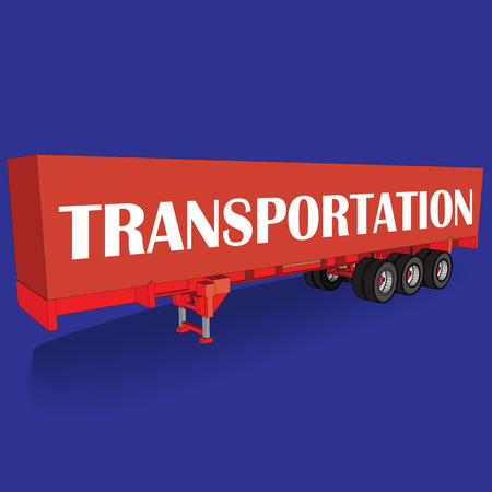 boxcar: Red tow Container  on blue board