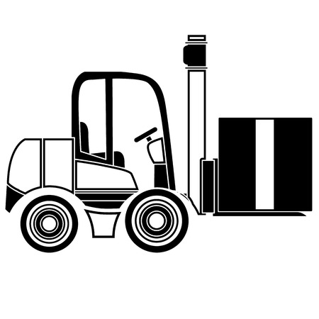 Forklift delivery truck vector icons Illustration