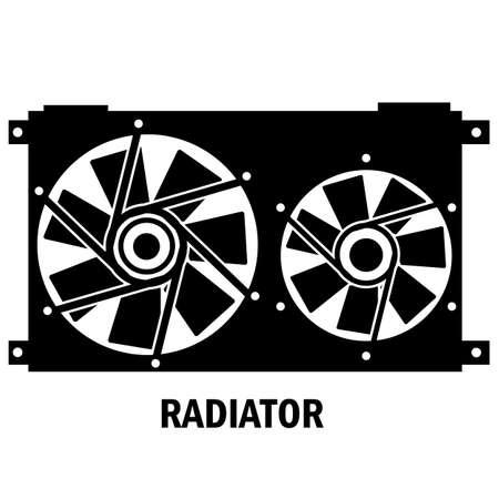 coolant: Car radiator heater icon vector style