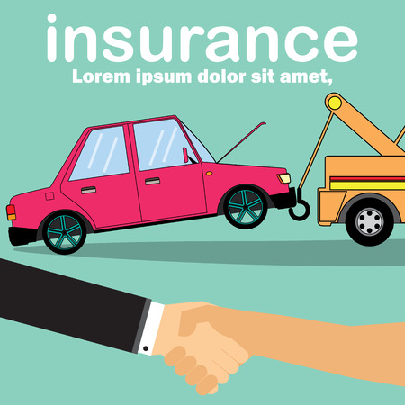 Transactions contact between car repair.Vector design Illustration