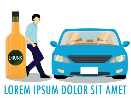 Alkoholflaschen Behindern Autounfälle In Den Bordstein. Diese ...
