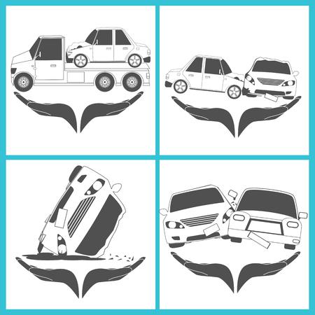 Car empathize simple sign vector illustration Ilustração