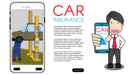Check repair by technician through phone system. Line vector concept.