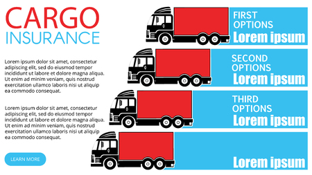 Color truck chart and blank stripe for add text of business information. Vector style