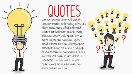 Creative businessman get the idea lightbulb head. flat vector design.