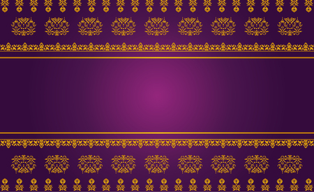 asian art: Thai art pattern vector, Asian Background Illustration