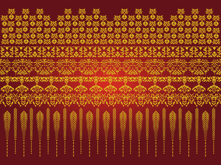 Thai art pattern vector, Asian Background 向量圖像