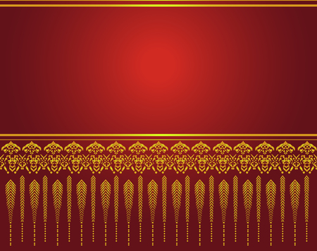 Thai art pattern vector, Asian Background Illustration